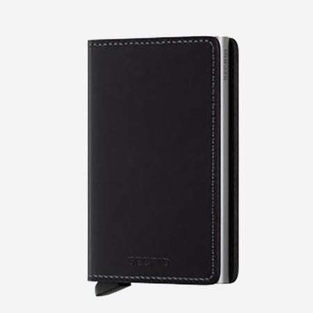 SECRID Slim Wallet - Black Leather