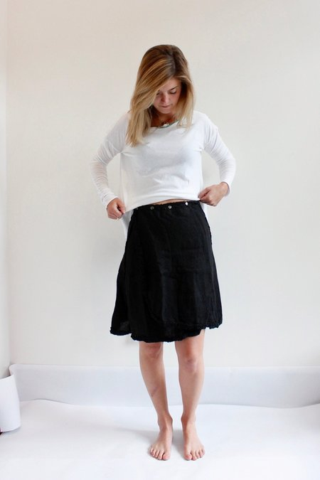Pip-squeak Chapeau Etc. Frill snap wrap skirt