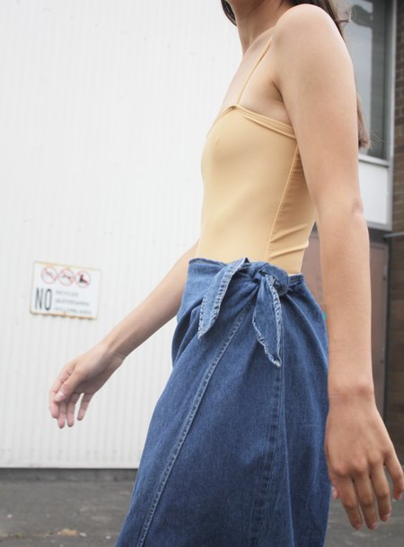 Association Denim Wrap Skirt