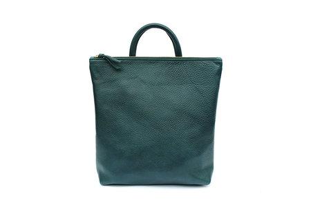 Primecut Sea Green Leather Backpack