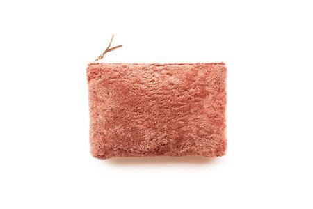 Primecut Dusty Pink Sheepskin Clutch