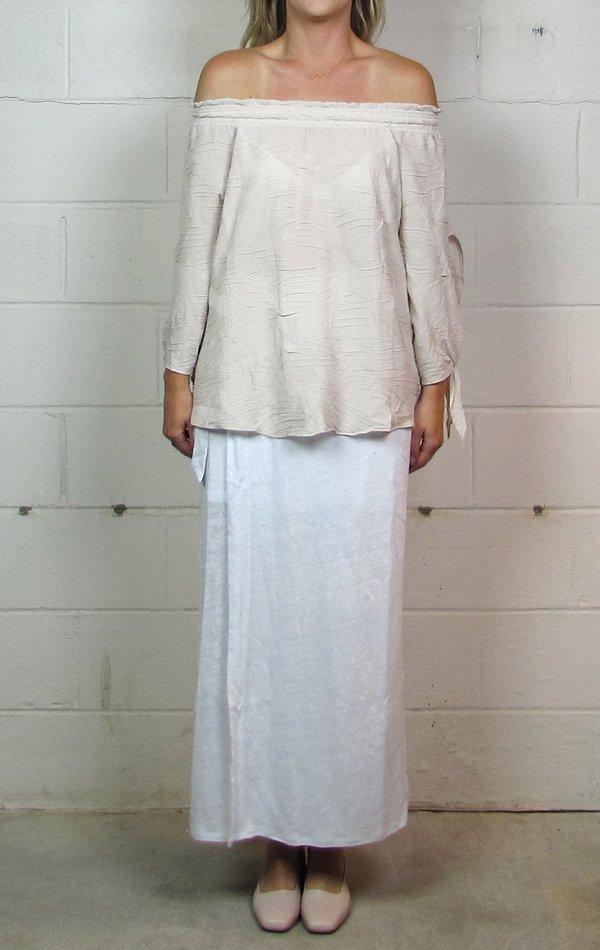 Heather janet linen wrap skirt