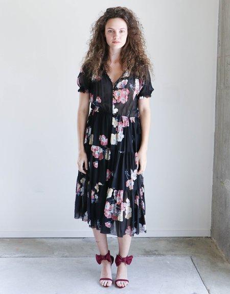Ulla Johnson Carmen Dress in Watercolor Floral