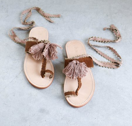 Ulla Johnson Zandra Sandals in Saddle