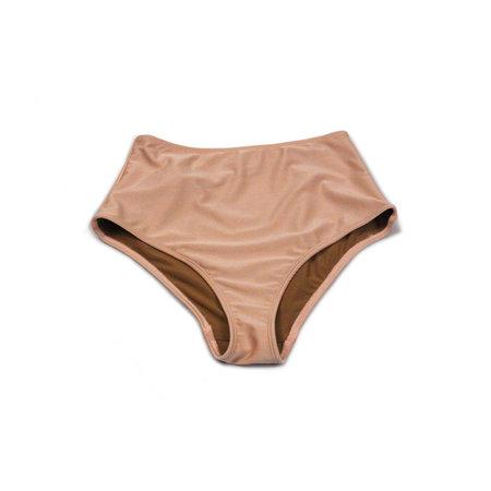 Nu Swim Basic High Waisted Bottom in Blush