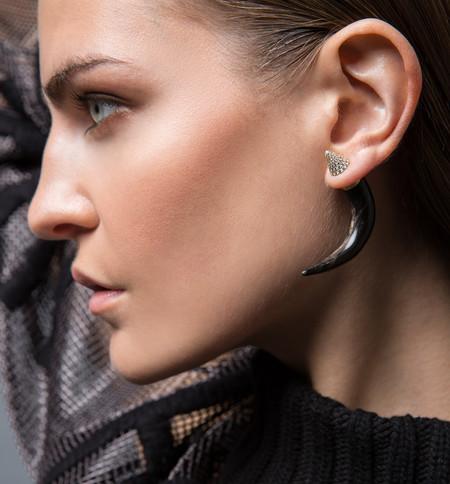 Sandy Leong Black Horn Earring