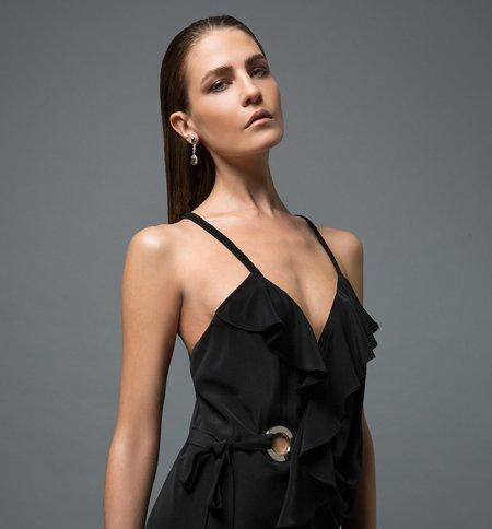 Öhlin/D Exclusive Ruffle Wrap Grommet Dress