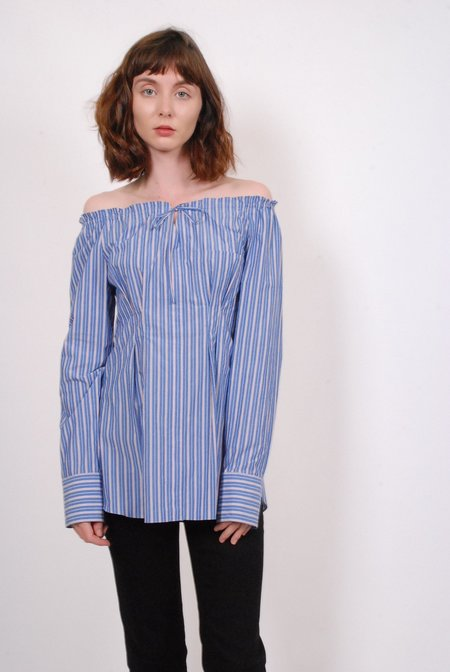 Tibi Garcon Top with Waist Detail