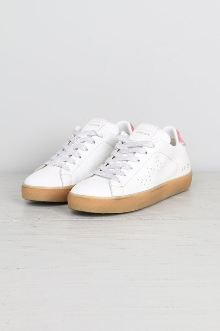 Leather Crown Donna Classic White w/ Pink Velvet