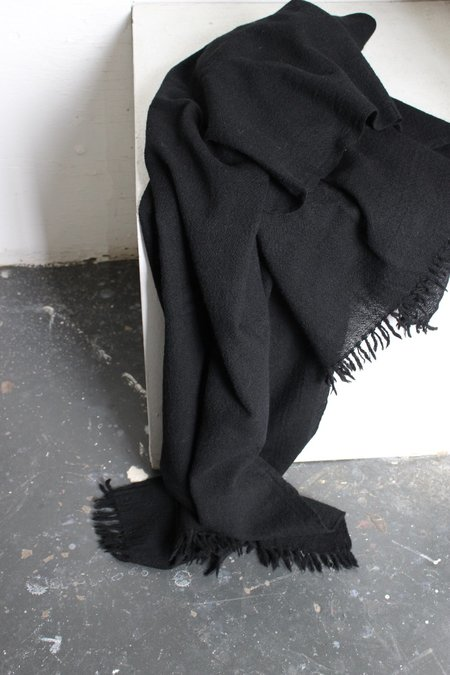 Aunti Oti Auntie Oti Lightweight Wool Blanket - Black