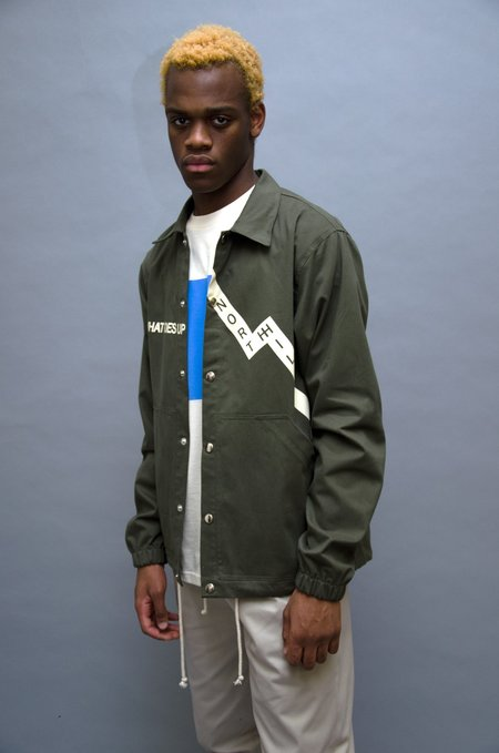 North Hill Karma Coach Jacket - Olive Green