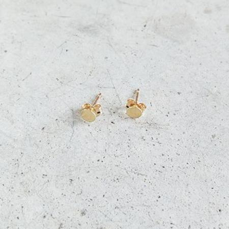 Kathleen Whitaker 4mm Sequin Stud in 14k Gold