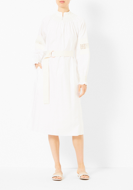 Tibi Cora Embroidery Midi Dress