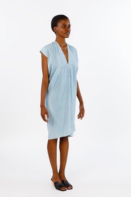 Miranda Bennett Everyday Dress, Silk Noil in Light Indigo