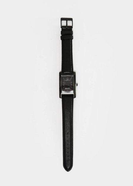 unisex Berg + Betts Black and Black Classic Watch