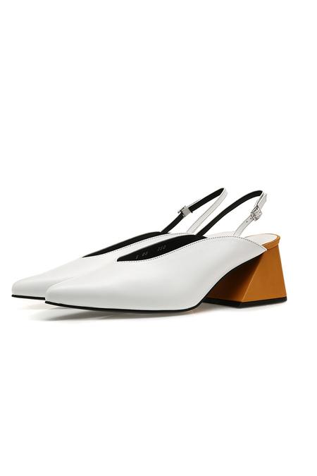 Yuul Yie Pointy Slingback Sandal- White