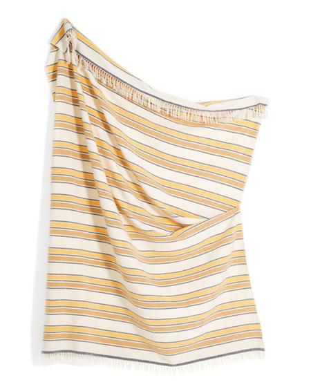 Minna Cotton Gold Stripe Throw