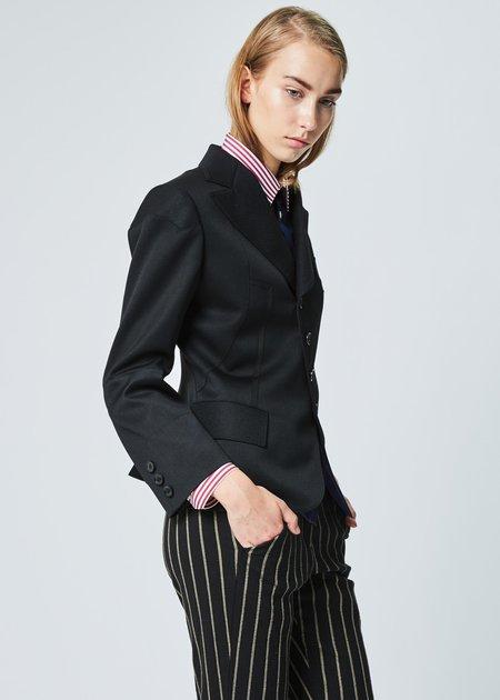 Shiro Sakai Mixed Panel Jacket in Black