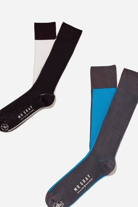 Mr. Gray Split Colour Block - Black + Blue