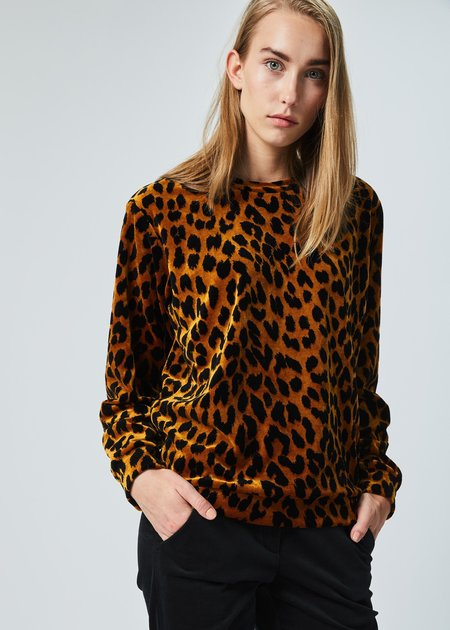 Odeeh Leopard Back-Zip Top