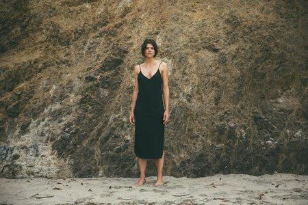 Ozma Silk Noil Slipdress in Black