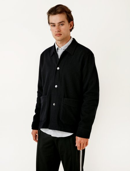 Our Legacy Archive Box Jacket Navy Light Cash Wool