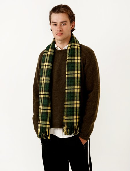 Our Legacy Scarf Boucle Check Citron/Grass