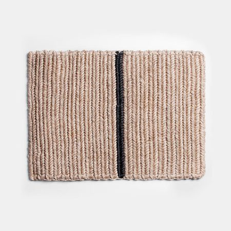 Someware Braided Doormat - Black Stripe