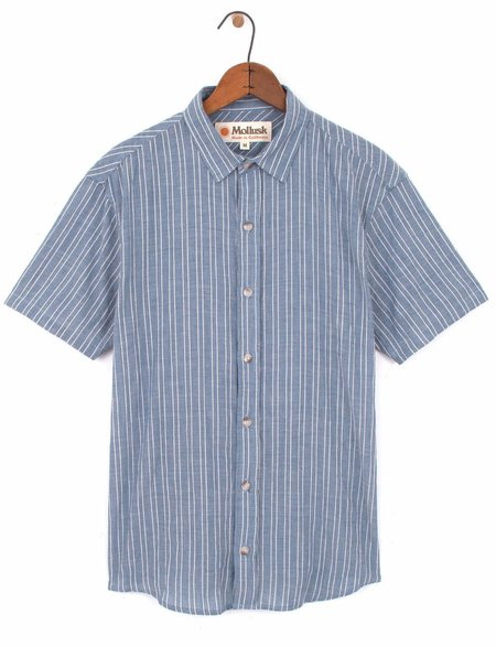 Mollusk Wilson Shirt - Blue Stripe