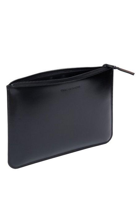 Comme des Garçons Leather Zip Wallet - Very Black - SA-5100VB