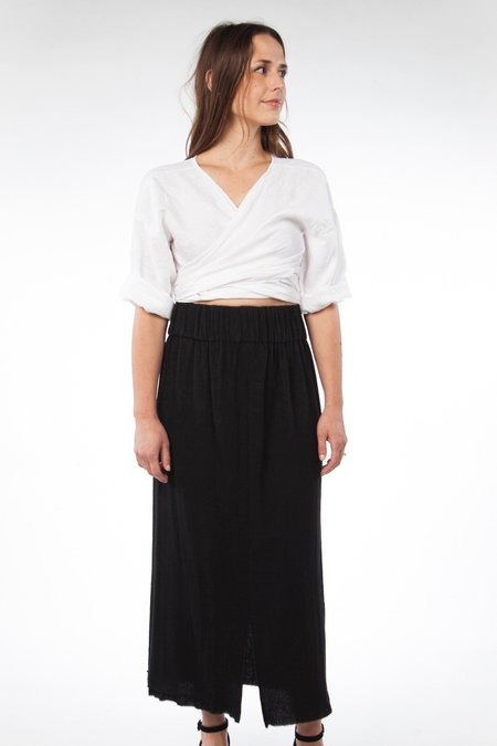 Miranda Bennett Paper Bag Skirt, Lined Cotton Gauze in Black