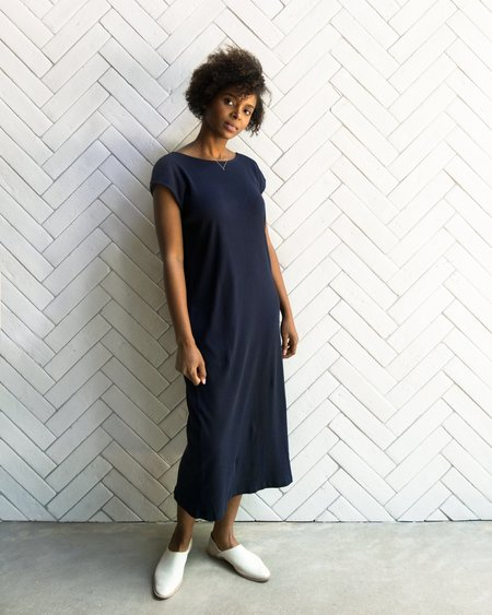 Esby NATALIE RIB DRESS - NAVY