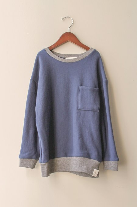 Kid's Shopboyandgirl Crew Pullover in Navy