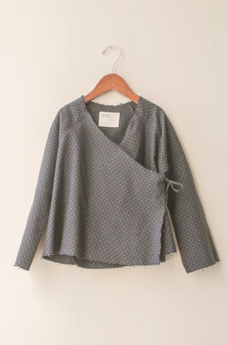 Kid's Boy+Girl Kimono Jacket in Black Polka Dot