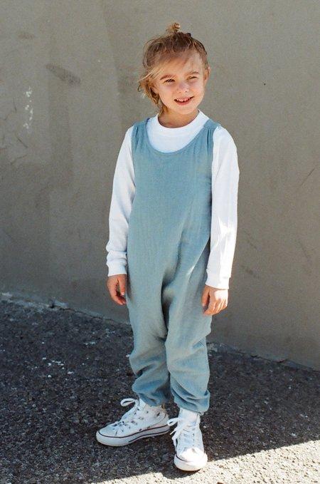 Kid's Shopboyandgirl Luna Overalls in Azure