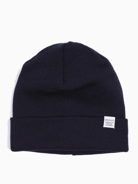 Norse Projects Norse Top Beanie Navy