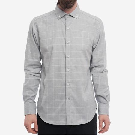 18 Waits The Windsor Shirt - Light Grey Windowpane