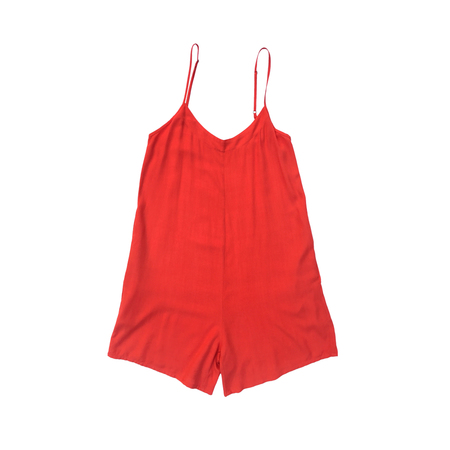 Ali Golden Rayon Romper in Poppy