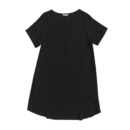 Ali Golden WOVEN T-SHIRT DRESS  in Black