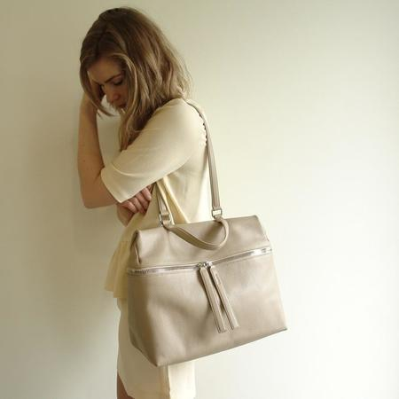 KARA pebble leather satchel
