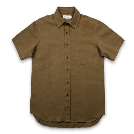 Taylor Stitch The Short Sleeve Mechanic in Tobacco