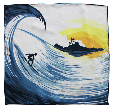 David Hart SURFER POCKET SQUARE