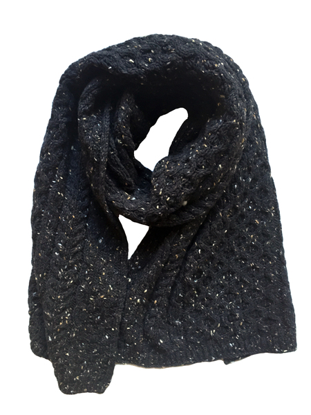 David Hart Black Irish Fisherman Scarf