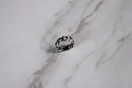 The Silver Stone Cuban Ring