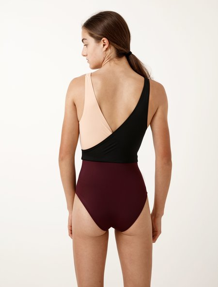 Solid And Striped Womens Ballerina Black/Nude/Bordeaux