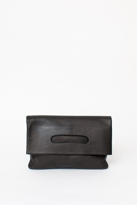 Baggu LPB Clutch - Black Leather