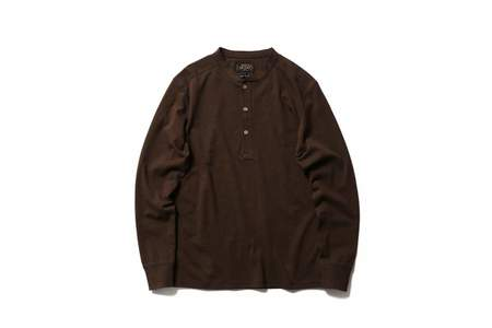 Beams + Henley Knit Brown