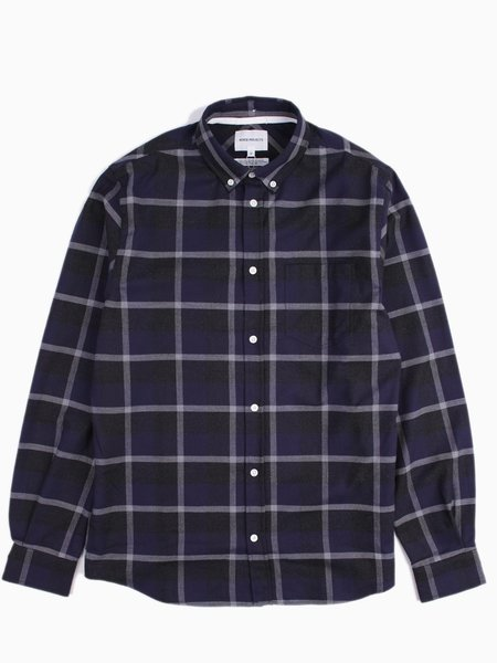Norse Projects Anton Check Navy/Charcoal