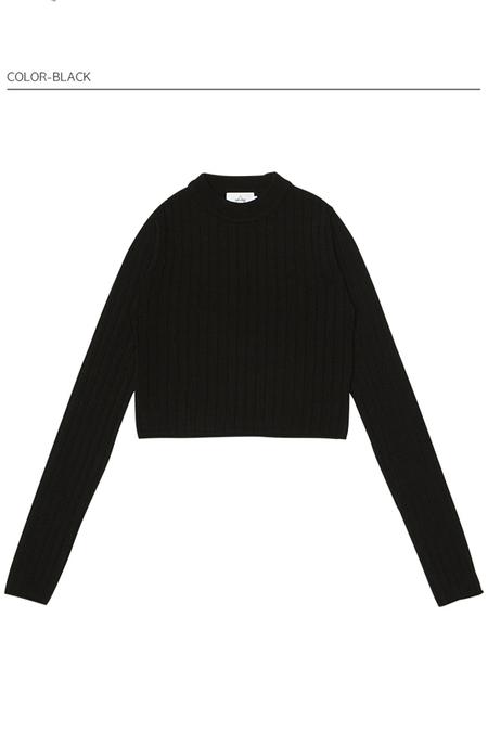 AMONG Basic Crop Knit
