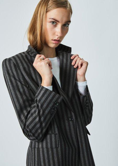 Ter et Bantine Single Button Striped Blazer